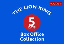 The Lion King 5th Day Box Office Collection