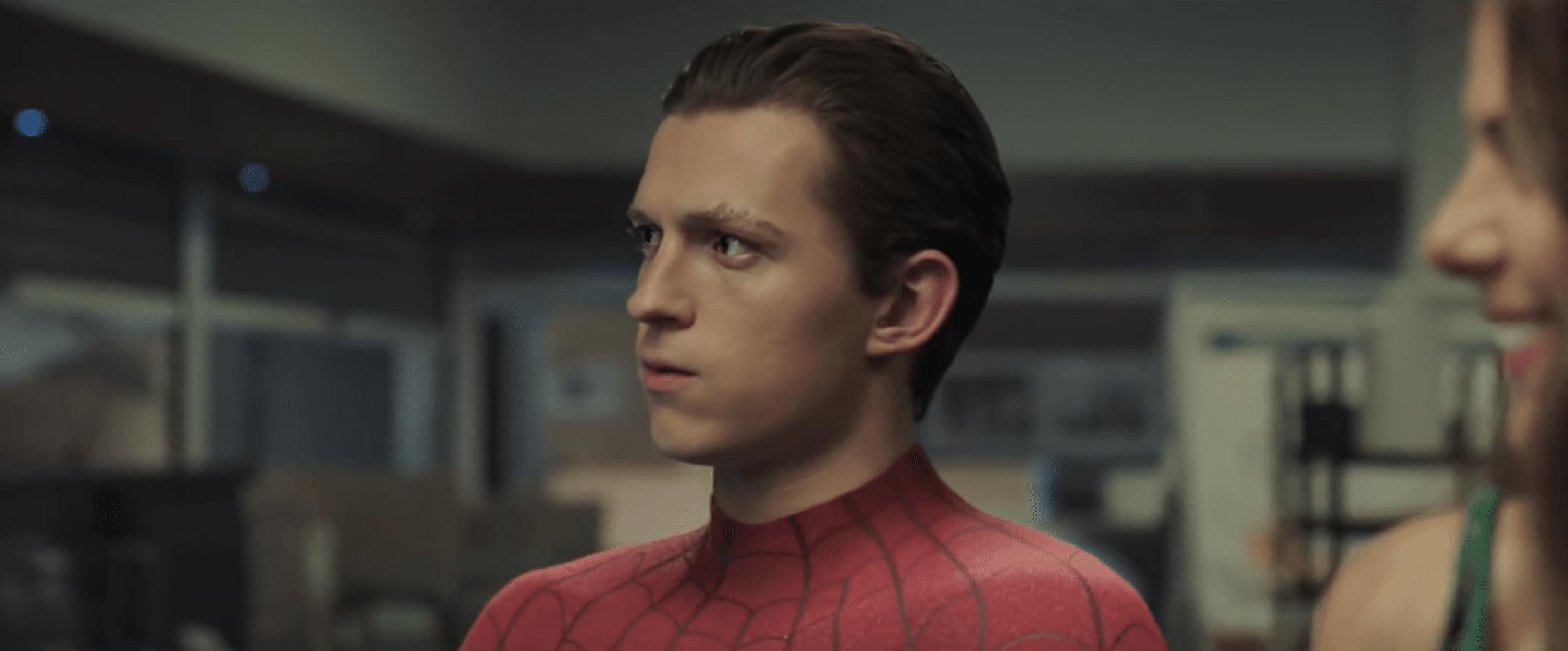 Spider Man Far From Home Tom Holland Tease Scene