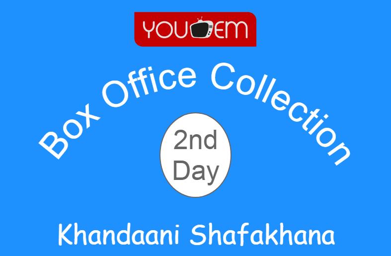 Khandaani Shafakhana 2nd Day Box Office Collection