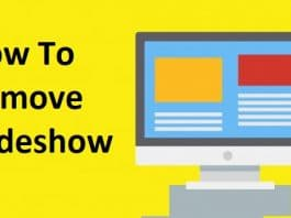 How to Remove Slideshow