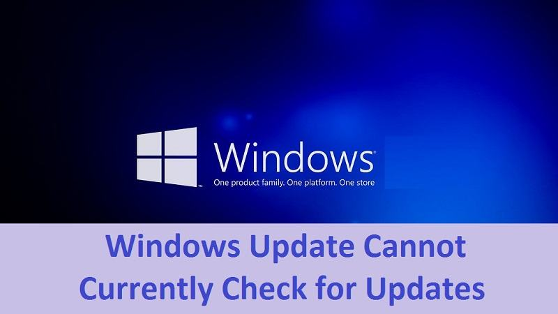 Windows Update Cannot Currently Check for Updates