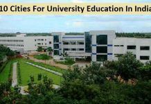 Top 10 Cities For University Education In India